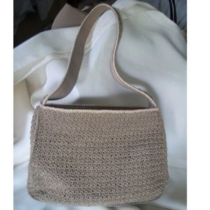 Liz Claiborne Villager Bags - Petite Taupe and Bone Macrame Shoulder Bag
